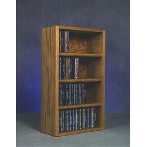 400 Series 104 CD Wall Mounted Multimedia Storage Rack by Wood Shed