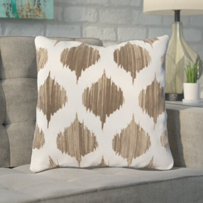 Wrought Studio Watson 100% Cotton Throw Pillow Size: 22 H x 22 W x 4 D, Color: Camel, Filler: Down
