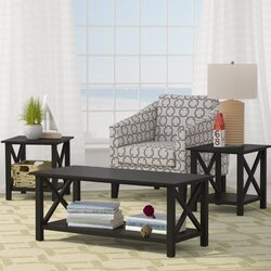 Living Room 3 Piece Table Sets beachcrest home ruthwynn 3 piece coffee table set & reviews | wayfair