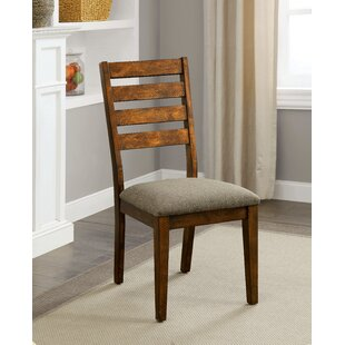 Tamela Rustic Upholstered Dining Chair (Set of 2)