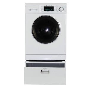 1.57 cu. ft. High Efficiency All in One Combo Washer Dryer with Pedestal Storage Drawer