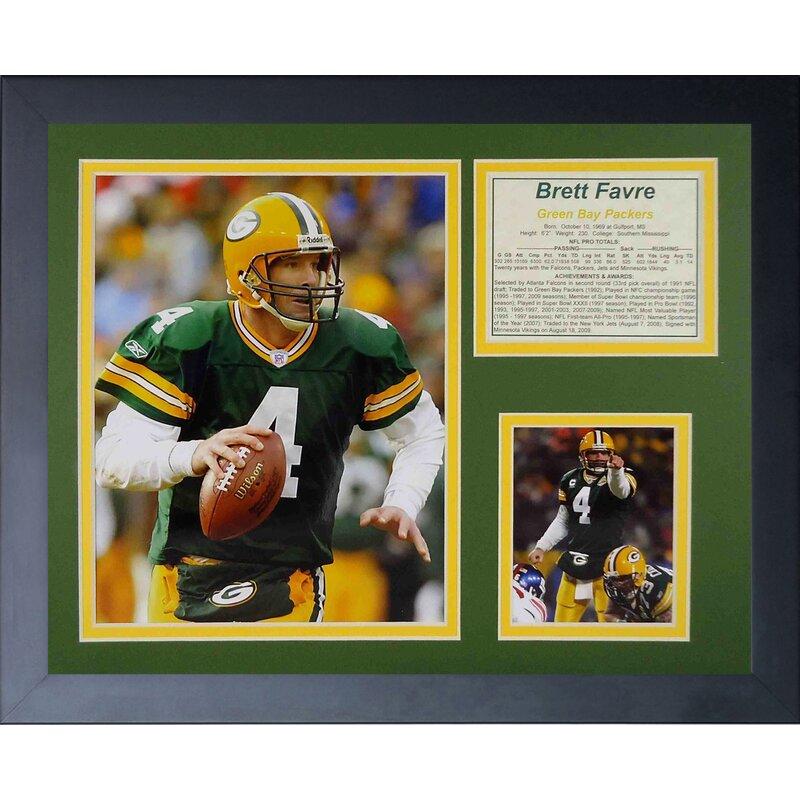 Legends Never Die Brett Favre Home Framed Memorabilia Wayfair