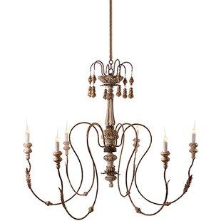 Aidan gray chandeliers youll love wayfair italian wedding 6 light candle style chandelier aloadofball Choice Image