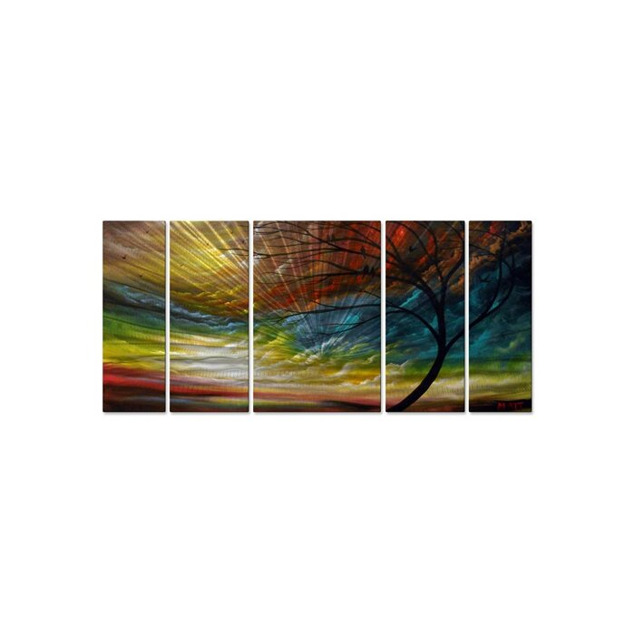 Sweet Summer Song By Matthew Hamblen 5 Piece Painting Print Plaque Set