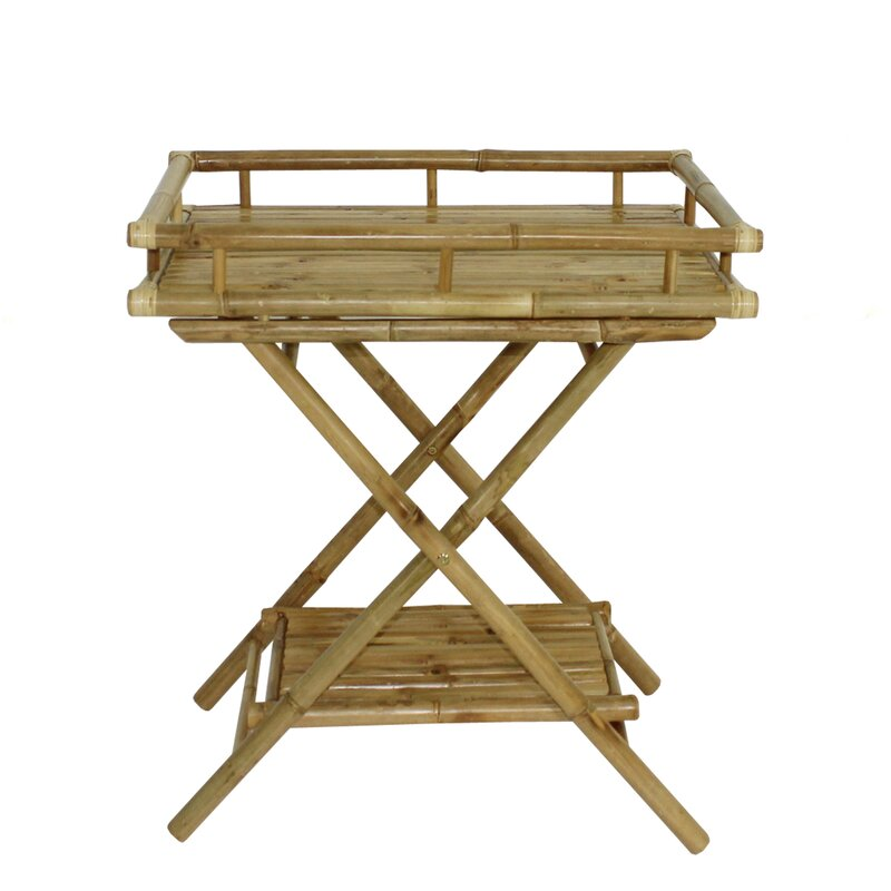 Attirant Denisse Bamboo Butler Tray Table
