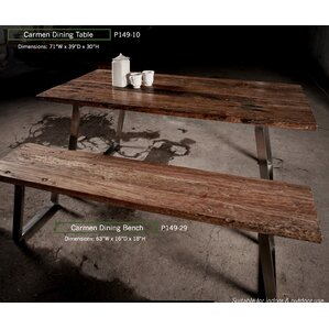 Shantae 3 Piece Dining Set by Union Rustic