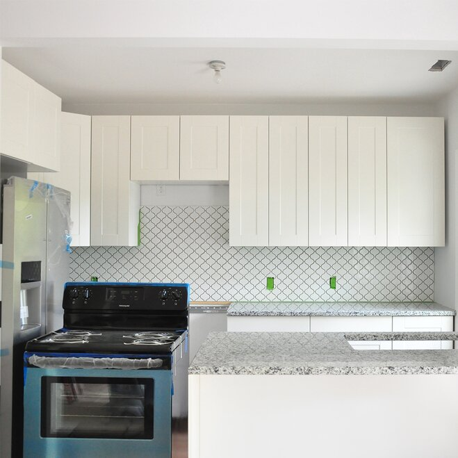 Fully Installed Backsplash Tile
