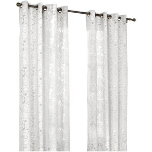 Hinckley Nature/Floral Sheer Grommet Single Curtain Panel