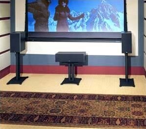 Sanus Steel Foundations 22 Center Channel Speaker Stand Wayfair