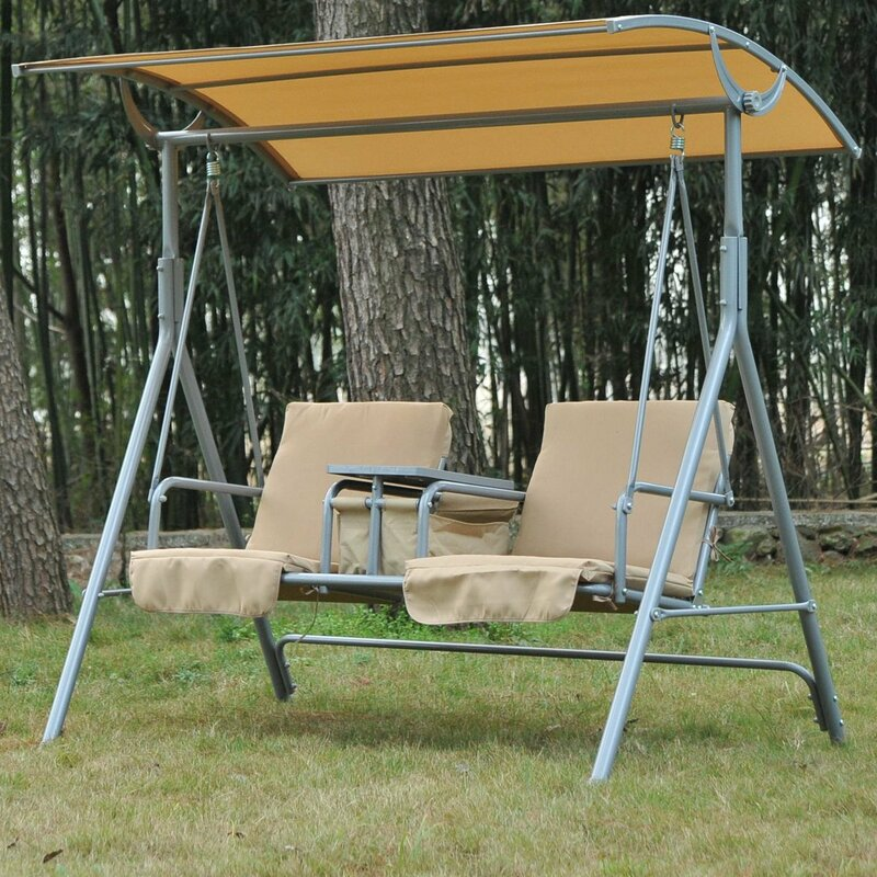 Canopy Swing Seat with Cushions & Bel Étage Canopy Swing Seat with Cushions u0026 Reviews | Wayfair.co.uk