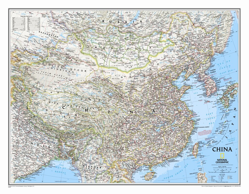 National geographic maps china classic wall map reviews wayfair china classic wall map gumiabroncs Choice Image