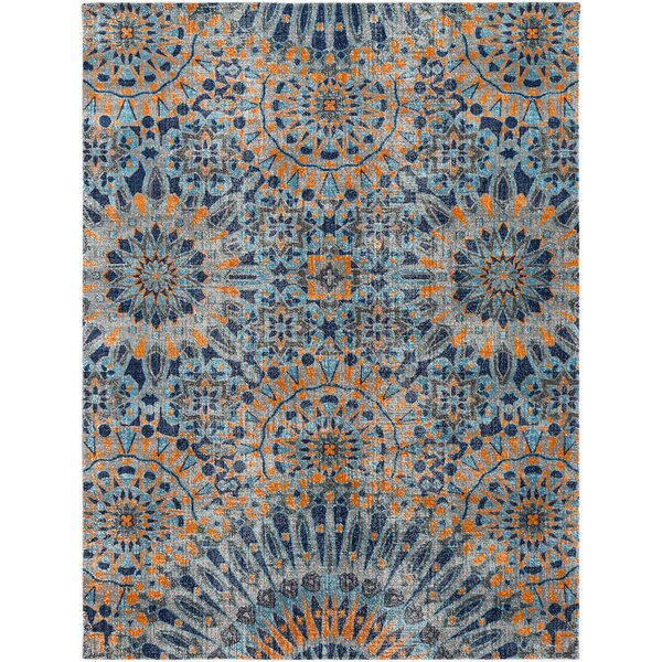 Awesome Mistana Fredonia Blue/Orange Area Rug U0026 Reviews | Wayfair