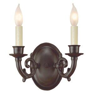 2-Light Candle Wall Light
