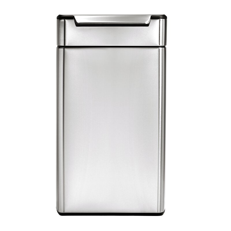 Simplehuman 10 6 Gallon Rectangular Touch Bar Trash Can