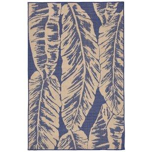 Lambert Banana Leaf Blue Indoor Outdoor Area Rug