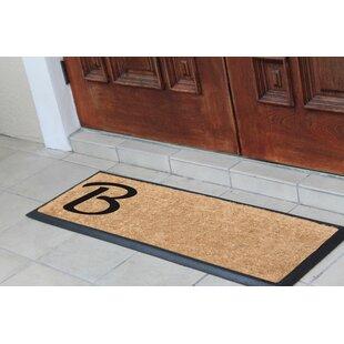 Albertina Rubber And Coir Monogrammed Double Doormat
