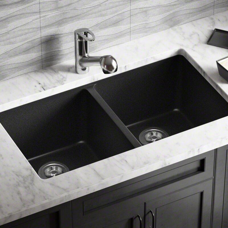 Mrdirect Granite Composite 32 Quot X 19 Quot Double Basin