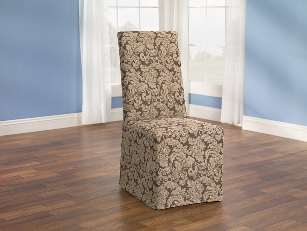 Wayfair Dining Room Chair Covers: Sure Fit Scroll Classic Dining Chair Skirted Slipcover
