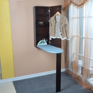 Ironing board furniture Utility Room Mon Cheri Wooden Mirrored Builtin Ironing Board Wayfair Portable Ironing Board Center Wayfair