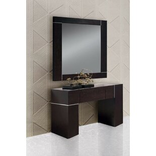 Clower Wall Console Table And Mirror Set