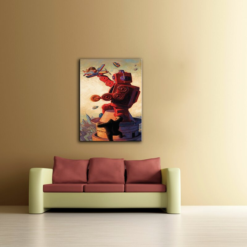 Artwall Robokong By Eric Joyner Framed Painting Print On