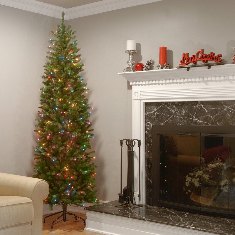 The Holiday Aisle Kingswood Fir 90 Hinged Pencil Tree With 350