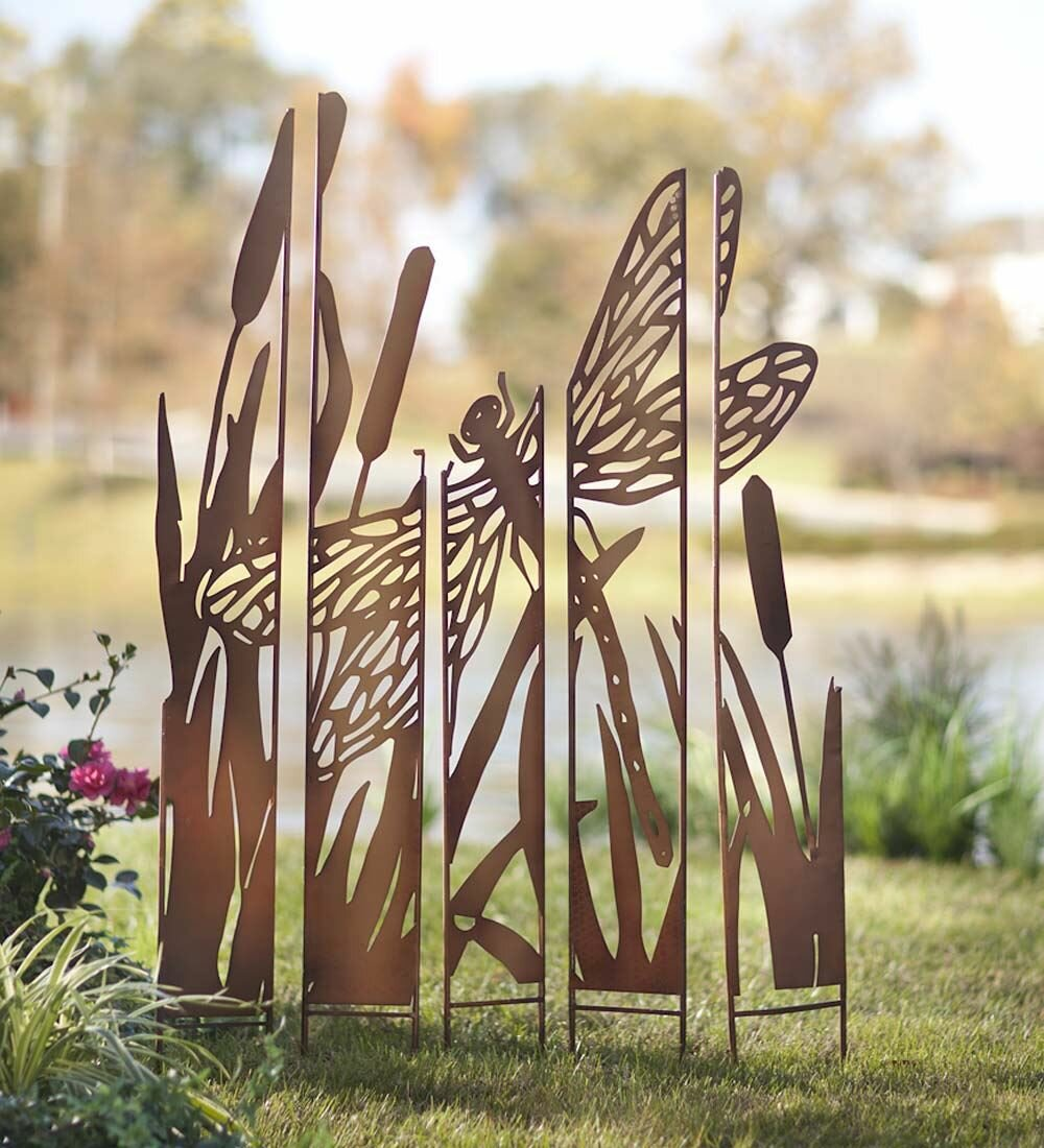 Wind U0026 Weather Metal Panel Dragonfly Garden Stake U0026 Reviews | Wayfair