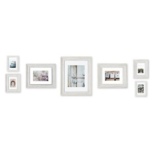 clemence 7 piece mixed profile picture frame set - White Picture Frame Set