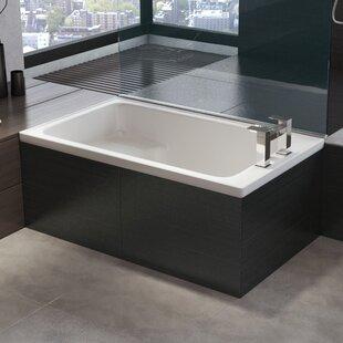 BathTime 1220mm x 720mm Straight Single Ended Bathtub by Belfry Basics