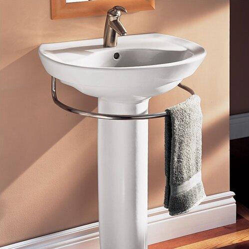 Ravenna Vitreous China 25  Pedestal Bathroom Sink with Overflow. American Standard Ravenna Vitreous China 25  Pedestal Bathroom