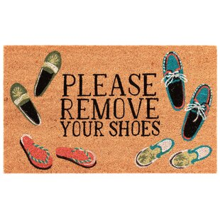 photograph about Please Take Off Your Shoes Sign Printable referred to as Take away Footwear Mat Wayfair