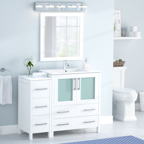 Wade Logan Karson 42 Quot Single Bathroom Vanity Set With
