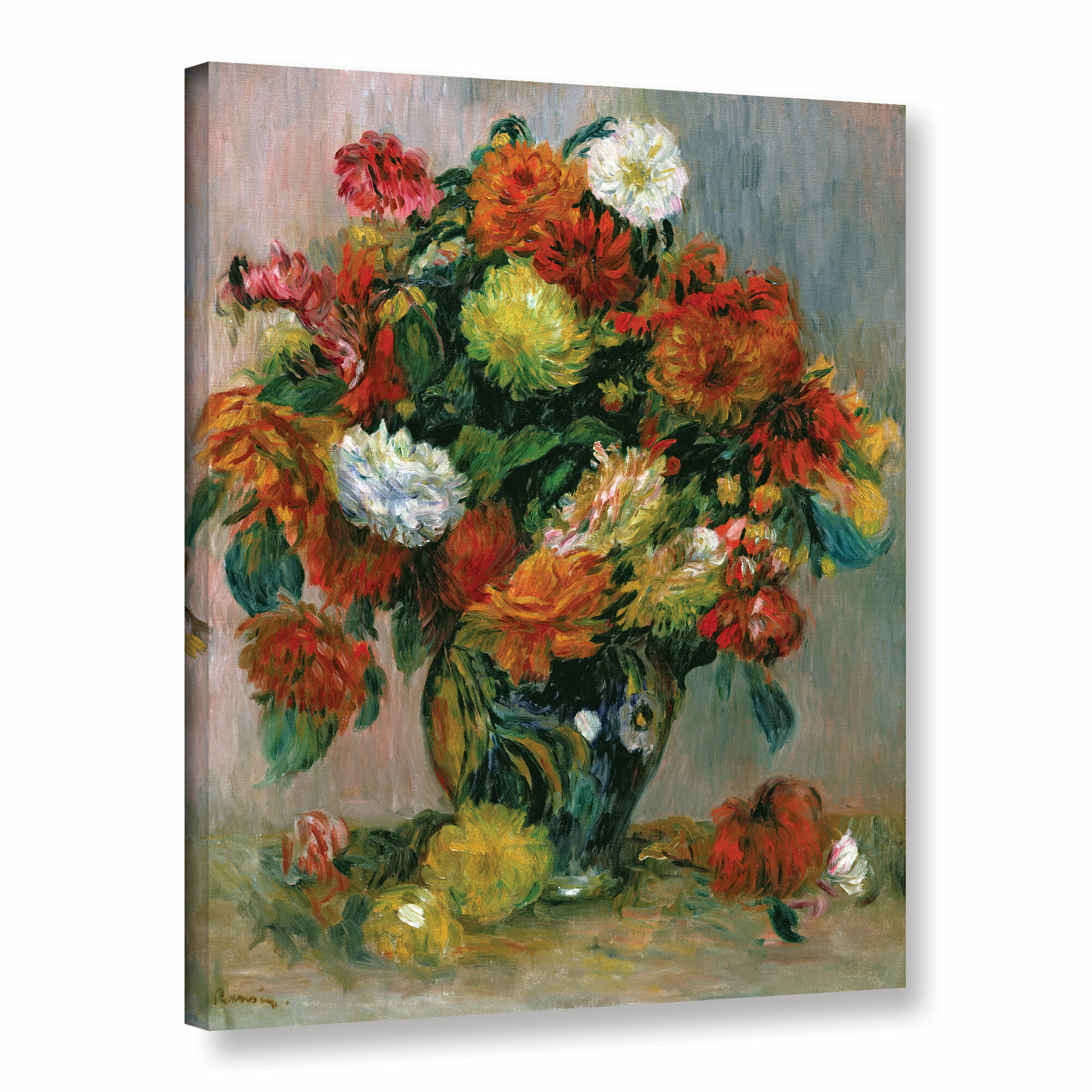 Charlton home vase of flowers 1884 by pierre auguste renoir charlton home vase of flowers 1884 by pierre auguste renoir painting print on wrapped canvas reviews wayfair floridaeventfo Images