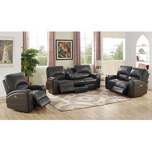 Woodhull Leather 3 Piece Living Room Set by ..