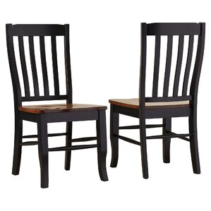 Courtdale Back Solid Wood Dining Chair (Set of 2) by Three Posts