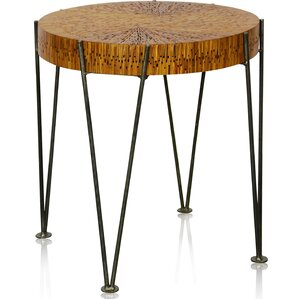 Shoshana Round End Table by Union Rustic