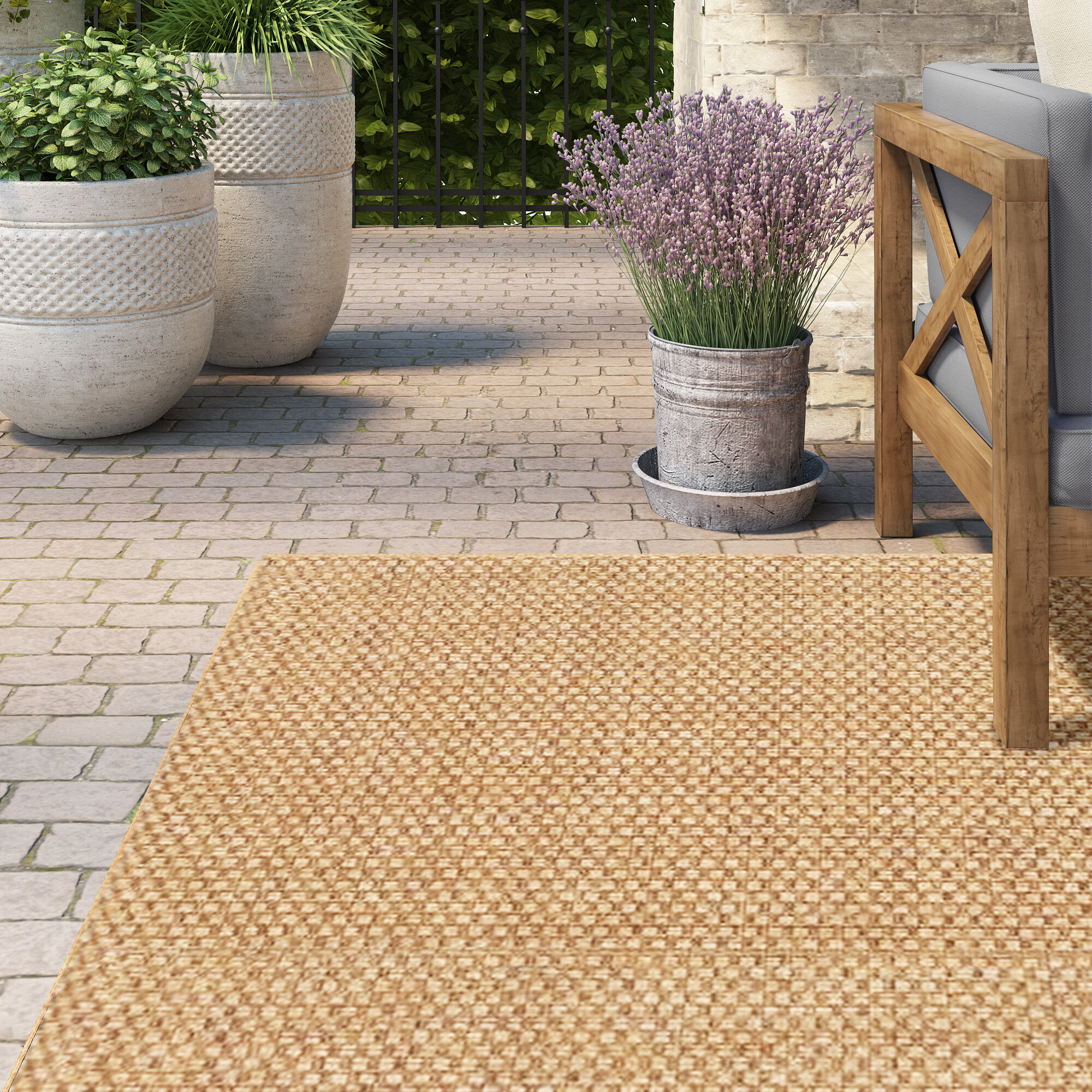 Lark Manor Orris Sand Indoor Outdoor Area Rug