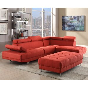 Blangkejeren Sectional  sc 1 st  Wayfair : red leather sectional - Sectionals, Sofas & Couches