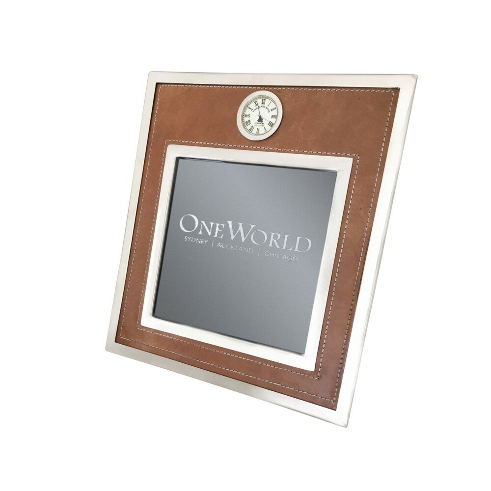Darby home co frame leather tabletop clock reviews wayfair jeuxipadfo Choice Image