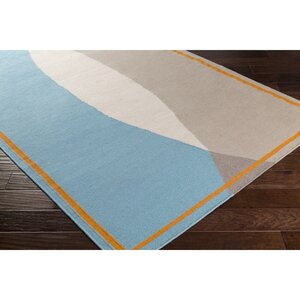 Aikens Hand-Woven Neutral/Orange Area Rug