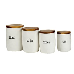 Itu0027s Just Words 4 Piece Kitchen Canister Set