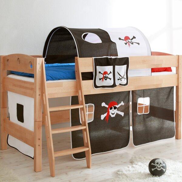 ticaa hochbett pirat mit schr ger leiter 90 x 200 cm. Black Bedroom Furniture Sets. Home Design Ideas