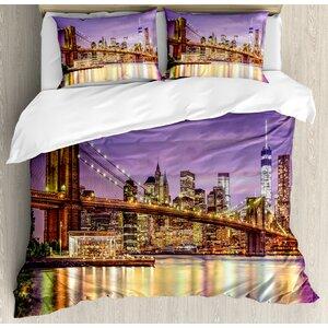 New York Exquisite Skyline Manhattan Duvet Set