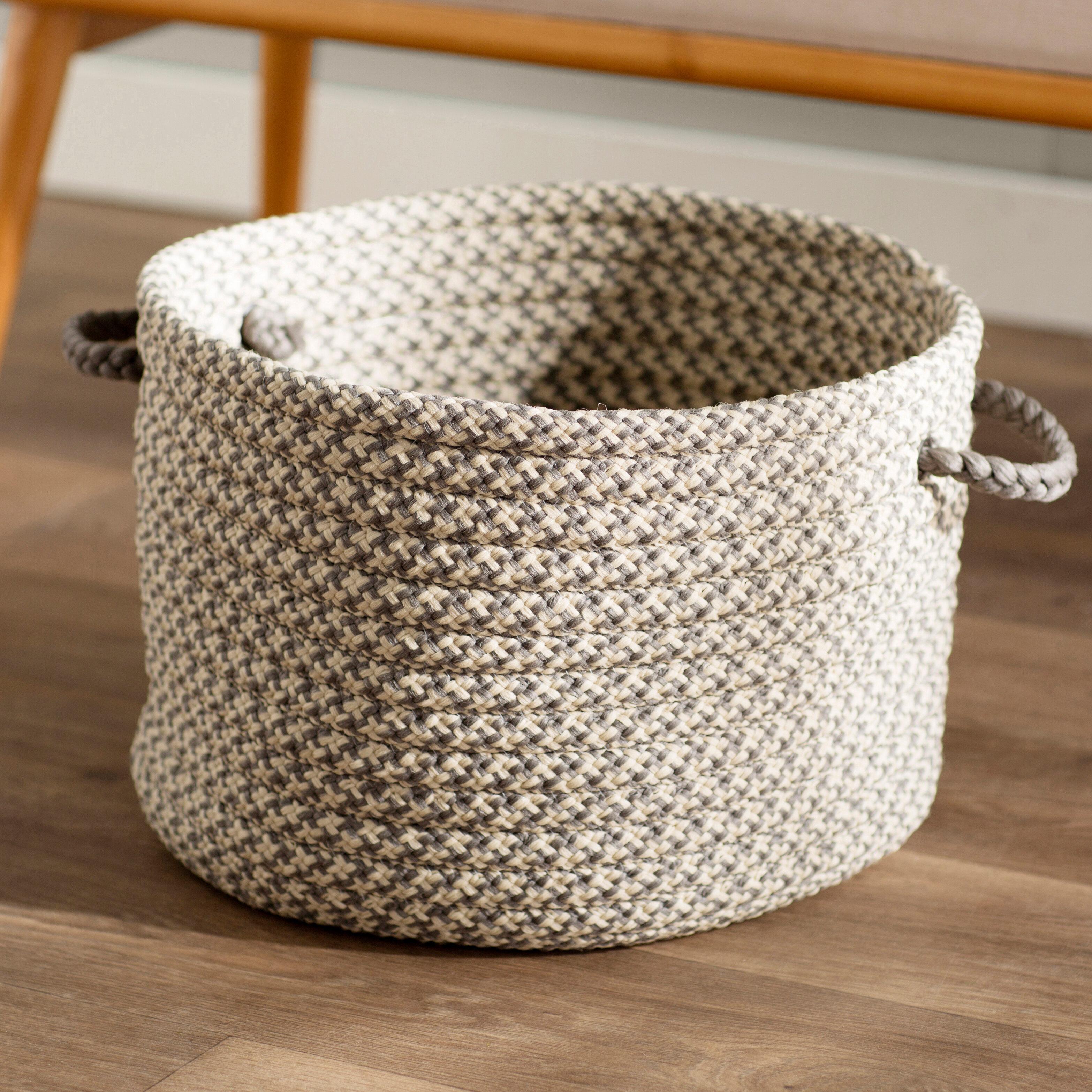 Mercury Row Burlington Outdoor Tweed Storage Basket U0026 Reviews   Wayfair