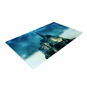 888 Design Haunted Castle Fantasy Blue Area Rug