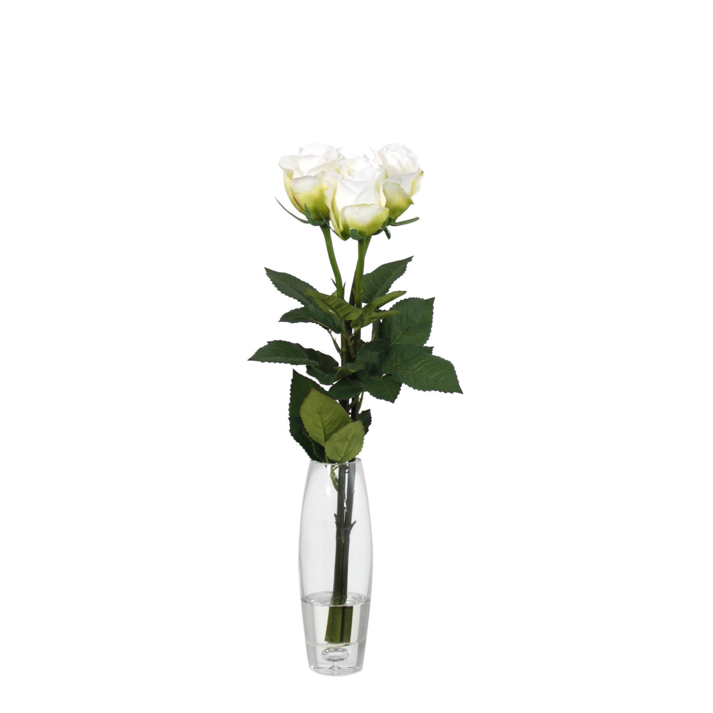 Artificial Rose in Vase