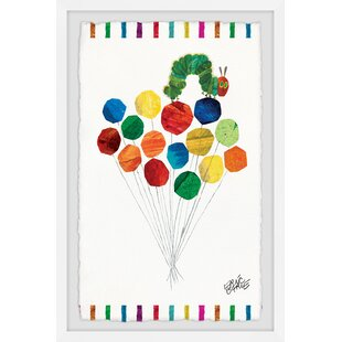 Truman 'Caterpillar on Balloons' Framed Art by Viv   Rae