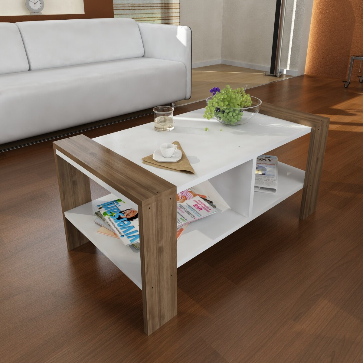 american walnut mondo vetrina table tables dona modern nella coffee designer
