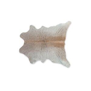 Taunton Calfskin Cowhide Light Gray Area Rug