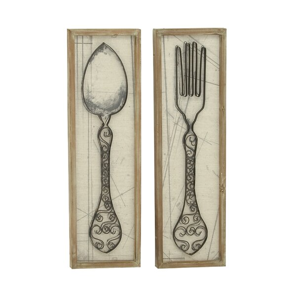 Very Large Spoon And Fork Wall Decor | Wayfair LU72